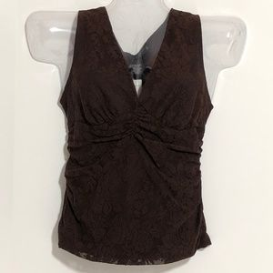 Rampage lace sleeveless top v neck NWT